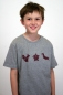 Preview: grau meliertes Kinder T-Shirt mit Origami