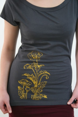 graues Blumen-Shirt, Fair Wear