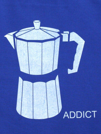 "Beutel ""Coffee Addict"", blau"