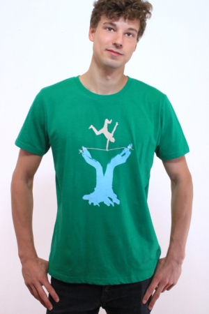 Slackline T-Shirt, grün, Fair Wear