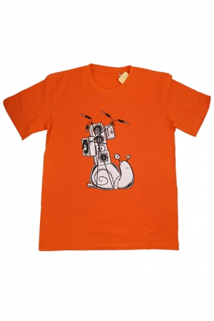 "Kinder-T-Shirt ""Soundschnecke"" - orange"