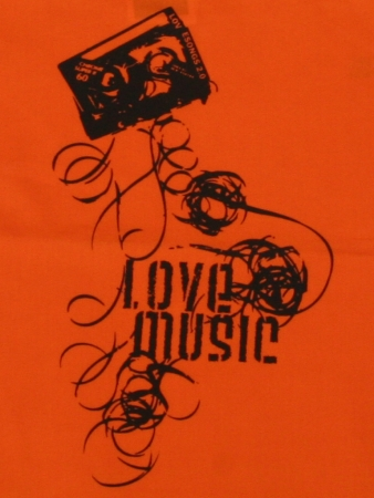 "Beutel ""LoveMusic"", orange"