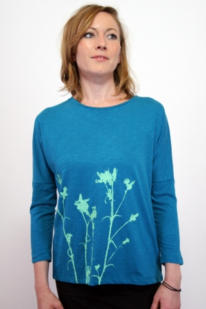 "3/4 Arm-Shirt ""Distel"", meerblau, Fair Wear, GOTS"