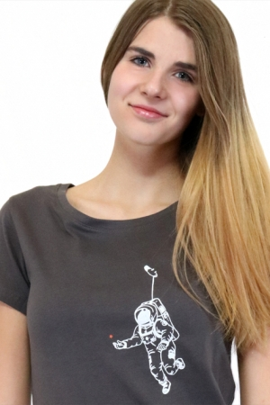 Shirt Kosmonaut, grau, Fair Wear, Bio, GOTS
