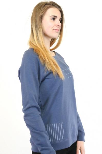 elegantes denimblaues Sweatshirt