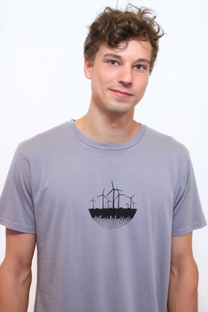 T-Shirt Windkraft grau, Fair Wear, GOTS