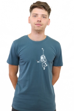 "T-Shirt ""Kosmonaut"" petrol, Fair Wear, GOTS"